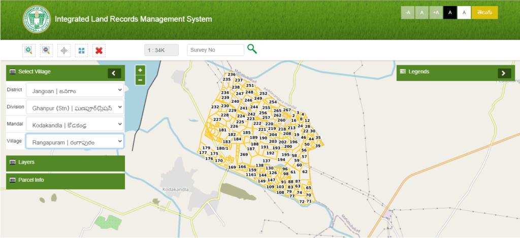 Maa Bhoomi Telangana ILRMS-map