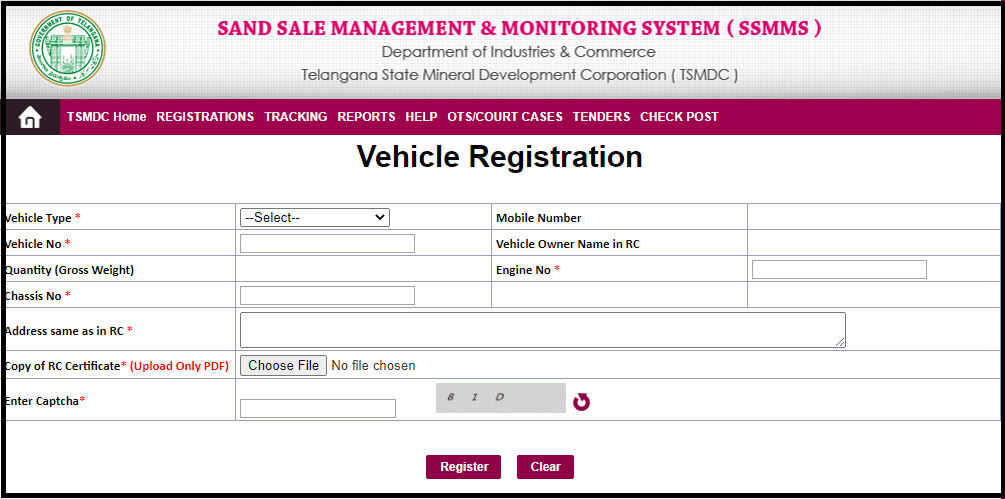 SSMMS-Vehicle-Registration