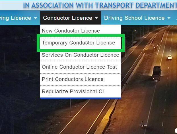 temporary-conductor-license-sarathi-parivahan