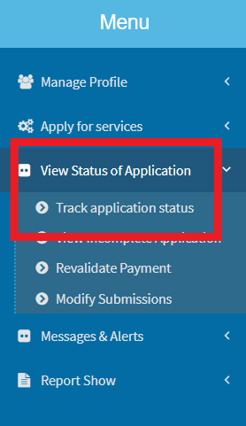 view-application-status