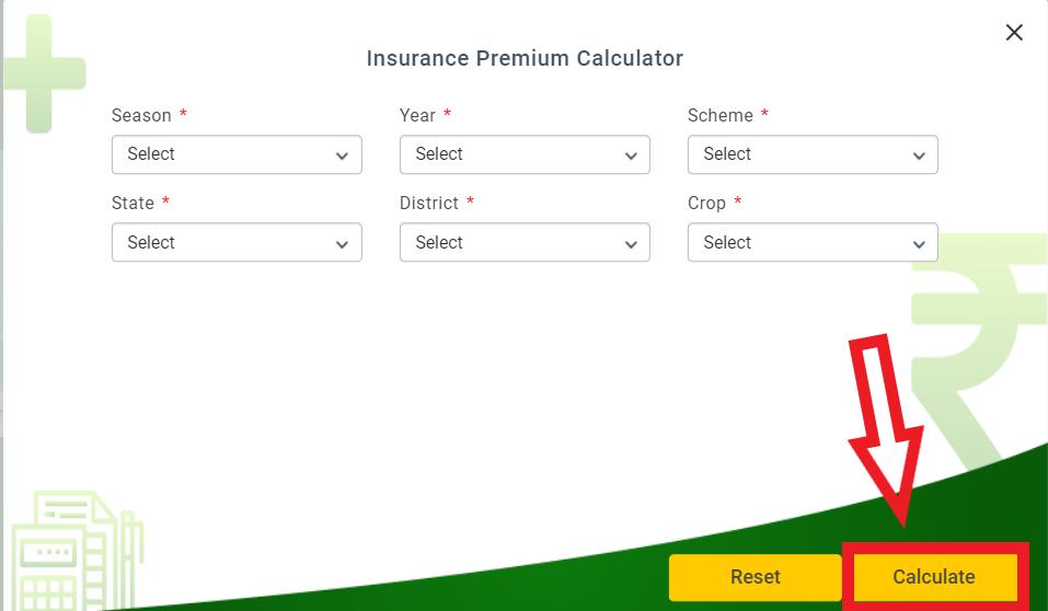 PMFasal-Bima-Yojana-Insurance-claim calculator
