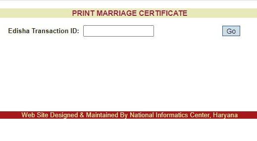 Marriage site certificate for Requesting a