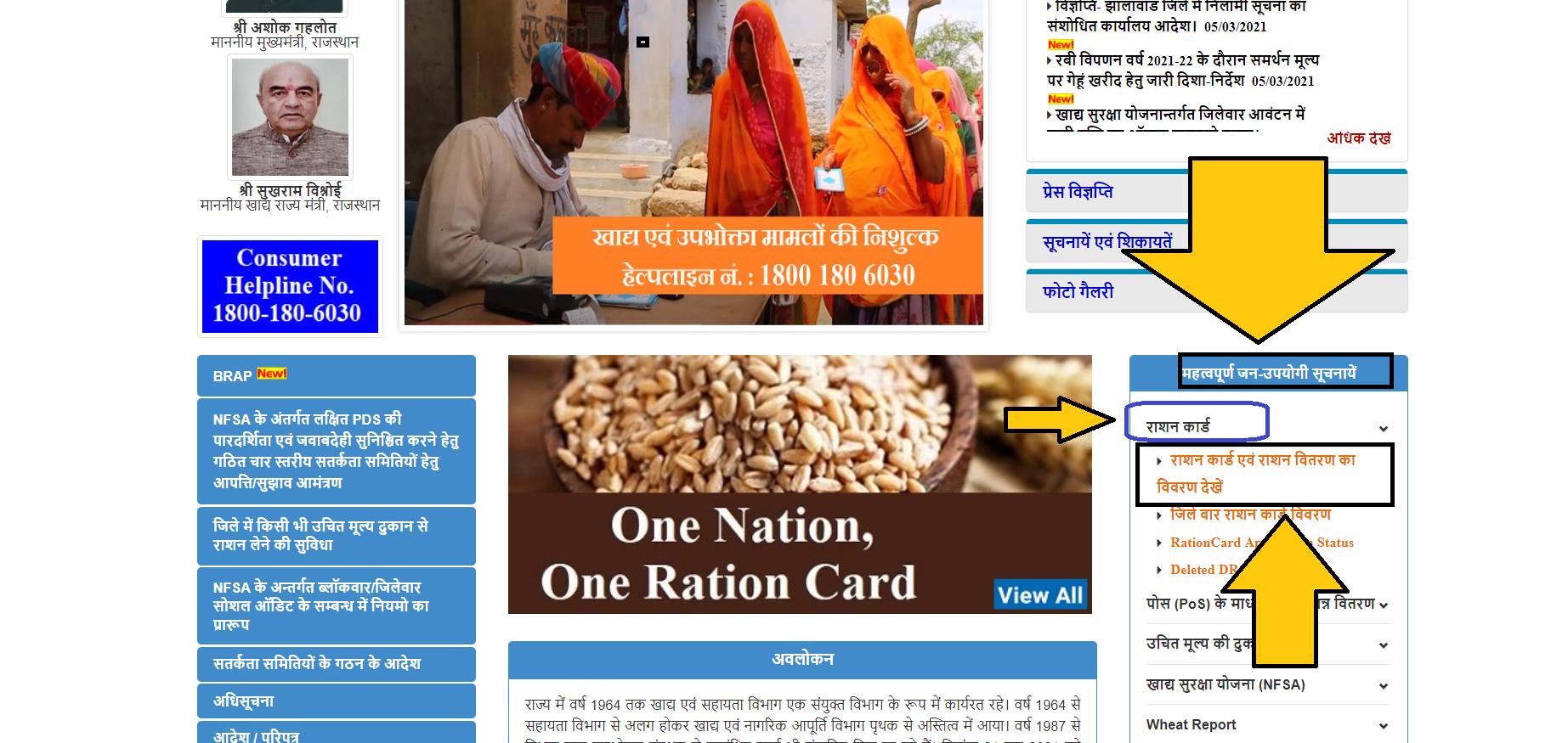 राजस्थान-राशन-कार्ड-ऑनलाइन-डिटेल्स-देखने-की-प्रक्रिया