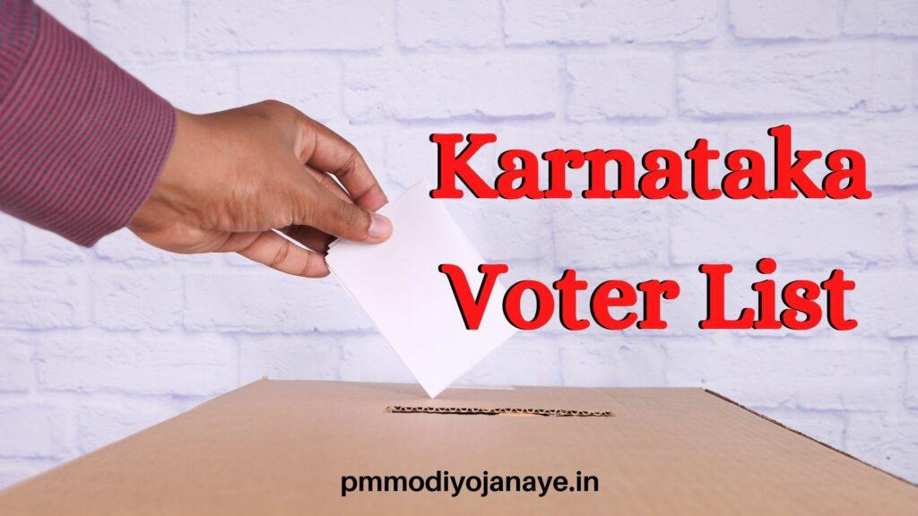 Karnataka Voter List 2021