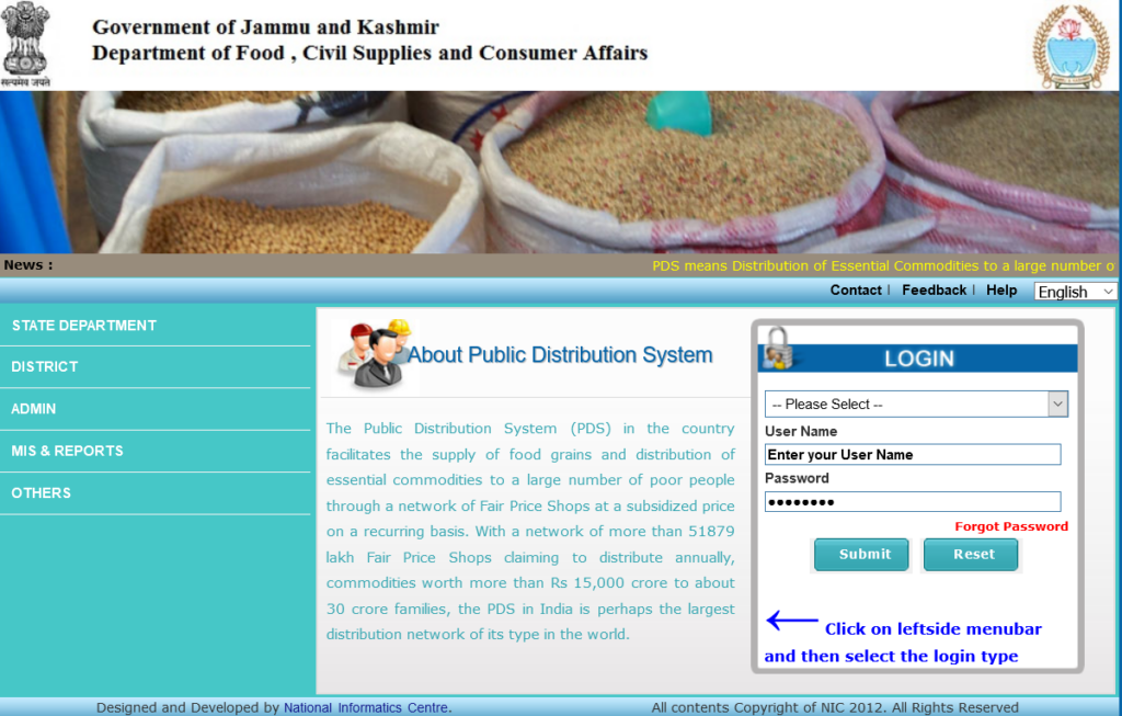 J&K Ration Card List