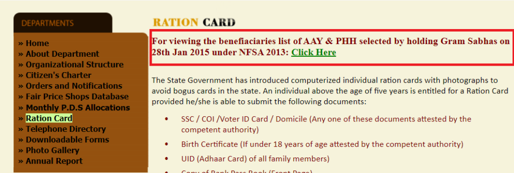 beneficiary list