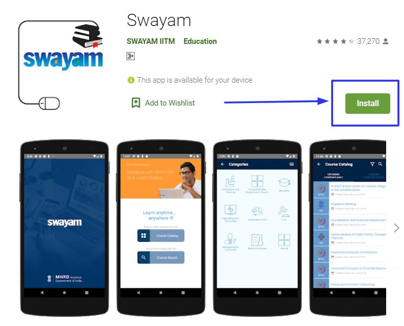Swayam mobile app