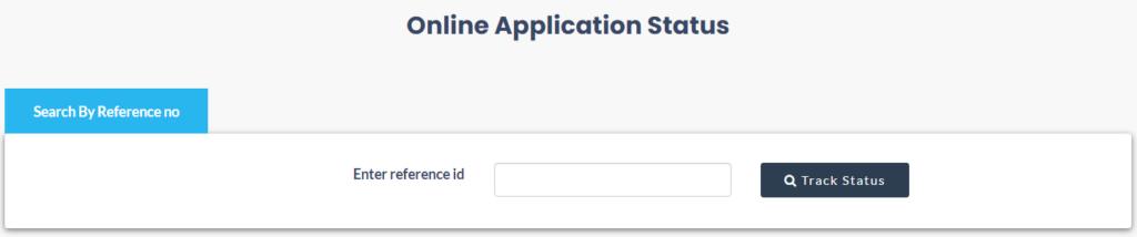 application status info