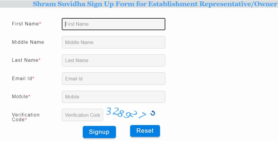 Shram Suvidha Portal signup
