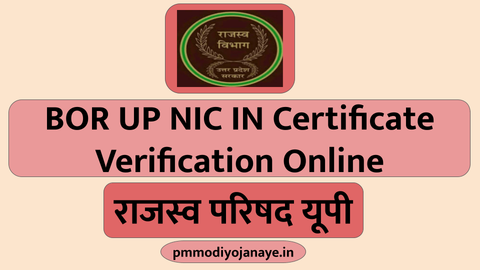 BOR UP NIC IN Certificate Verification Online