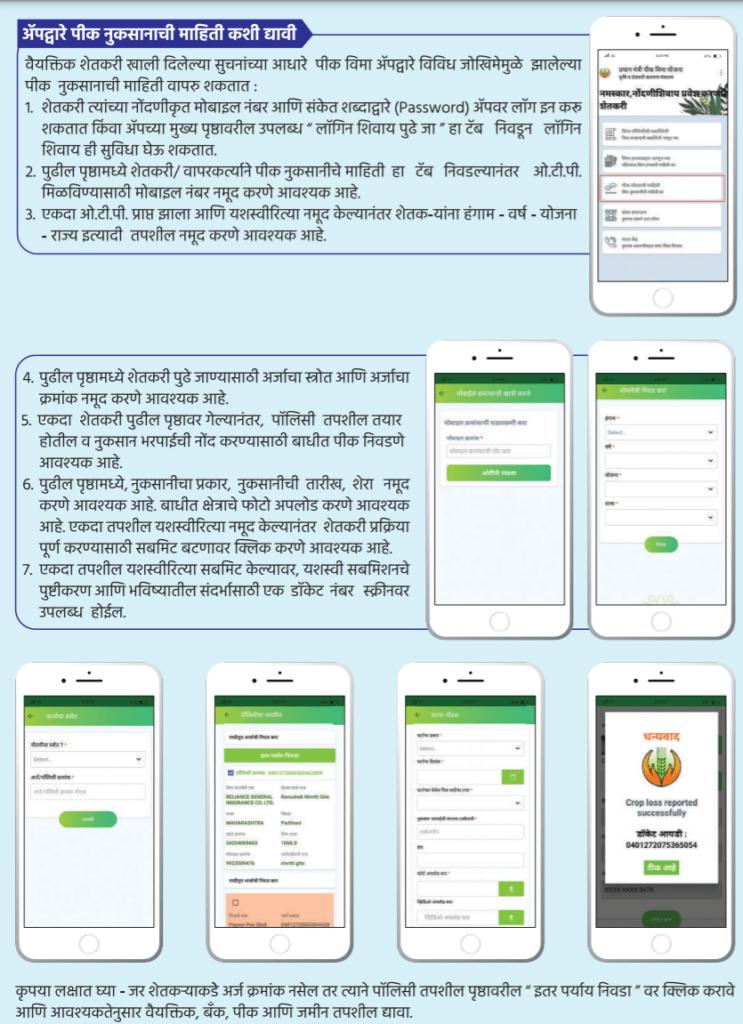 beneficiary list of the PIK Vima/ Nuksan Bharpai Yojana.