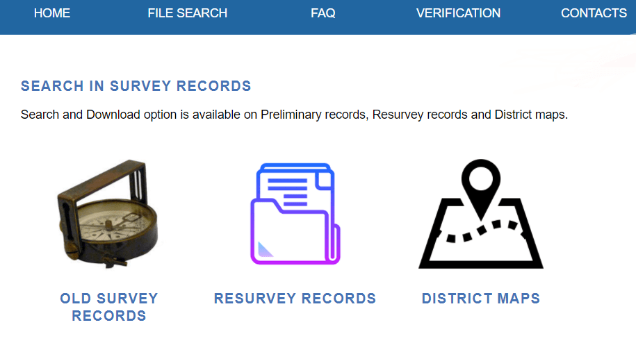 search in survey records
