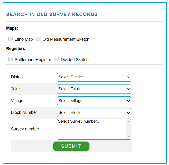 search file in old survey recods